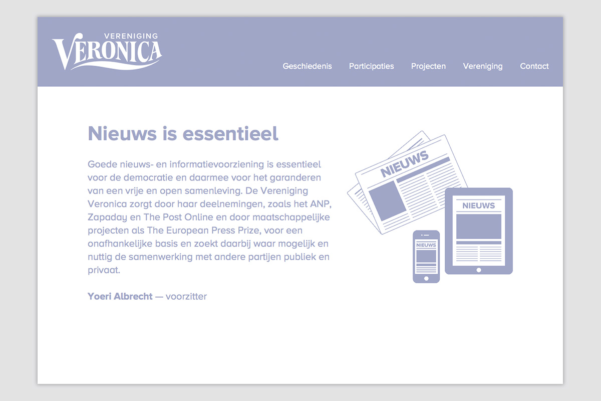 Vereniging Veronica — Website